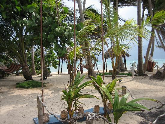 Little Corn Beach and Bungalow: View from our Casita porch