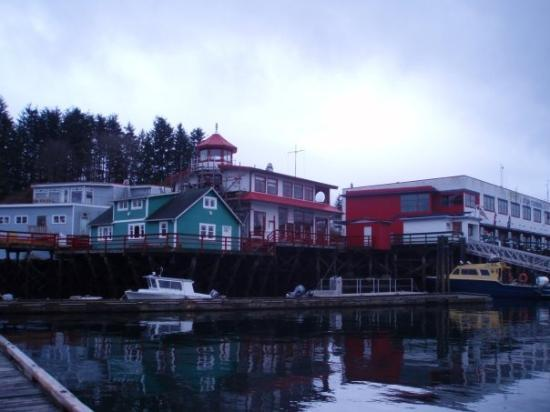 Prince Rupert, Canada: Buildings along the harbour.