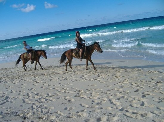 Pandora Stables: Me & Lori horse back riding on the beautiful shores of D.R