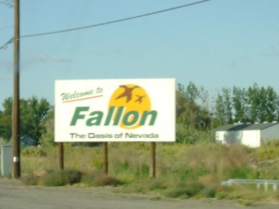 Finally in Fallon, NV.