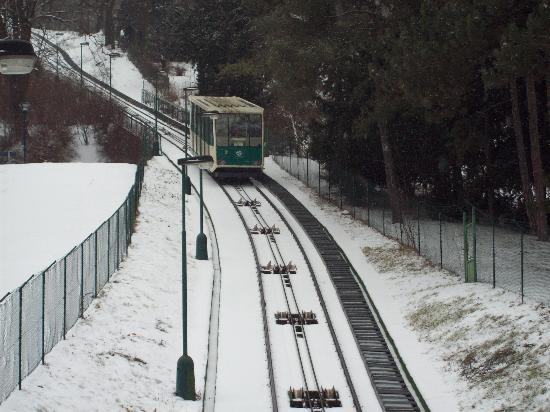Prague, Czech Republic: Funicular Railway to Petrin tower