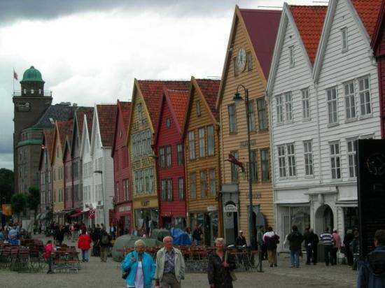 The famous Bryggen (it means harbour I think), These houses and shops are amazing!