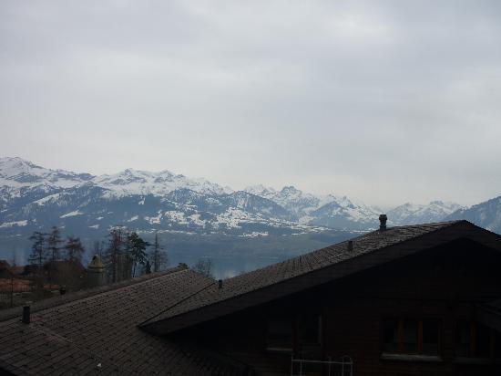 Solbad Hotel : bei guten Wetterverhältnissen wäre die Aussicht auf den Thunersee wunderschön