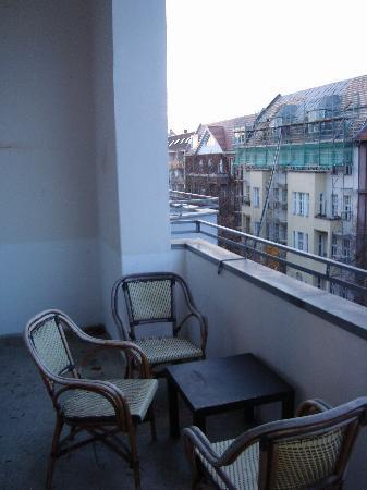 Hotel-Pension Rheingold: The Balcony