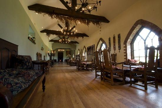 Barberstown Castle: the reception area b4 going into the meal