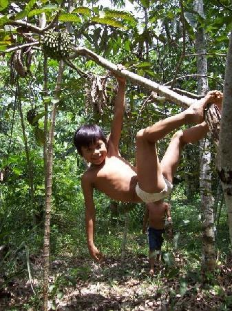 Yacu Puma Center: Monkey boy :)