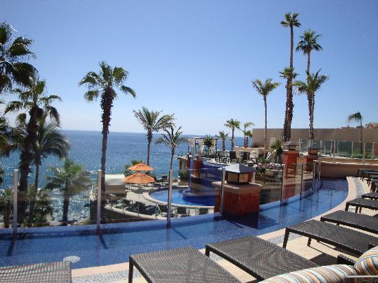 Welk Resorts Sirena Del Mar: View from pool and restaurant level