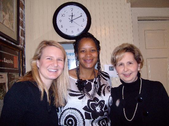 Mrs. Wilkes Dining Room: LaMonica with Mrs. Wilkes granddaughter, Marsh and great granddaughter Emily