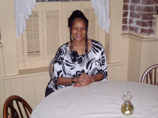 Mrs. Wilkes Dining Room: This is the table where President Obama sat 3 days before me