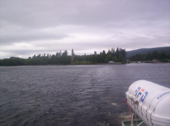 Looking towards Fort Augustus while on a cruise of Loch Ness