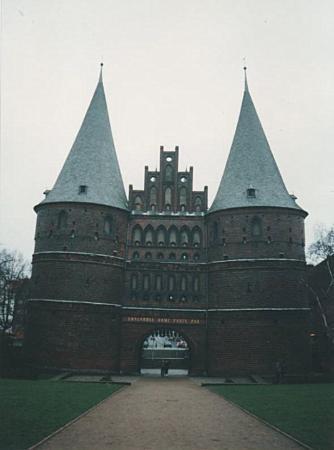Lübeck, Tyskland: Luebeck Tor(gate); Luebeck, Germany