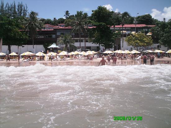 D Beach Resort: La spiaggia ed il resort dal mare