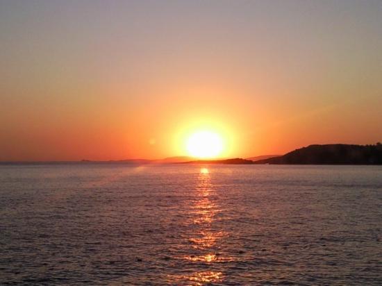 Ozdere, Turquia: Coucher de soleil.