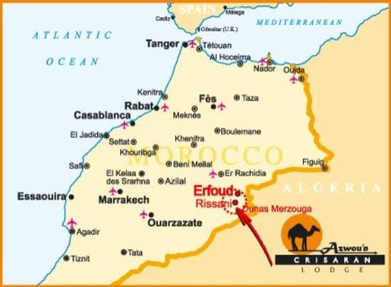 MAP OF MOROCCO Picture Of Taroudant SoussMassaDraa Region - Map of morocco