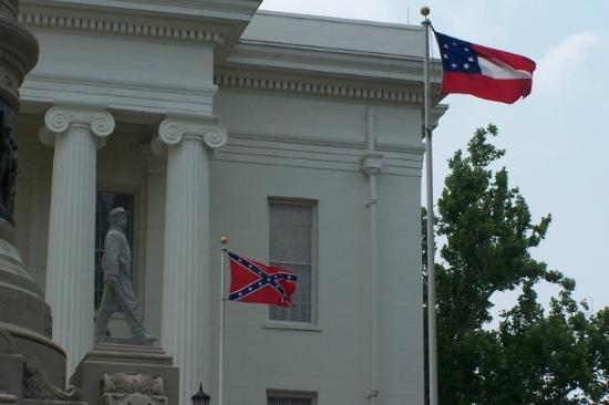 Flags flying near Alabama State Capitol, Montgomery