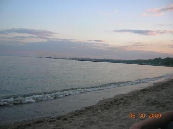The Azov sea from the shores of Mariupol', the city of my birth.