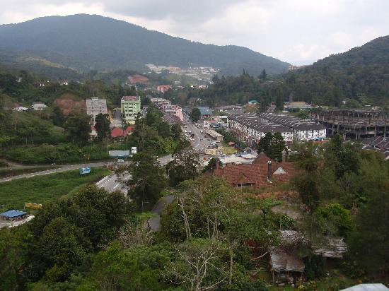 View of Tanah Rata from one of the Hotel Towers
