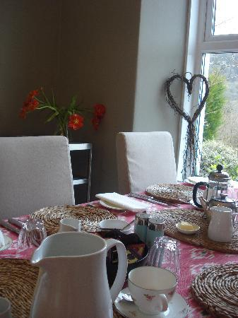Llety Betws: Breakfast Table