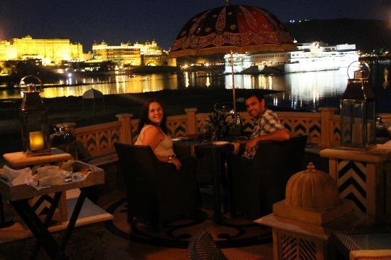 The Leela Palace Udaipur: hotel dinner