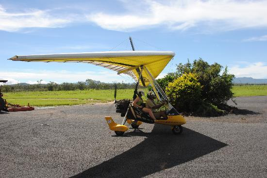 Jaques Coffee Plantation: Heading out in the microlight