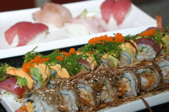 No Coast Sushi: surf & turf, poison ivy & tuna/yellowtail nigiri