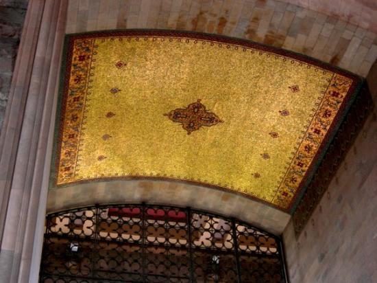 Ankara - Anitkabir, o mausoléu de Ataturk, o fundador da República (tecto do nicho do sarcófago