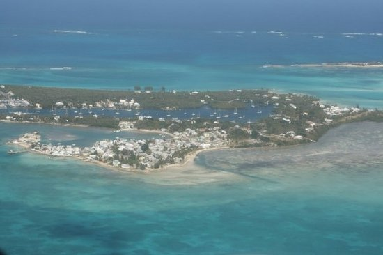 ‪‪Green Turtle Cay‬: GTC from above‬
