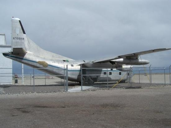 Wendover, UT: One of the planes used in conair for land shots
