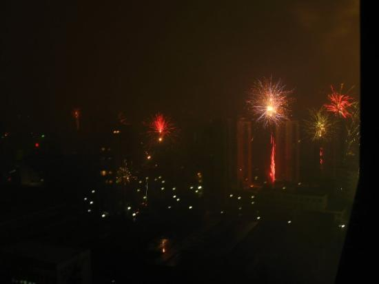 Shanghai Hong Gang Hotel : Welcome the year of tiger - there were fireworks everywhere in Shanghai! I was waken up by the f