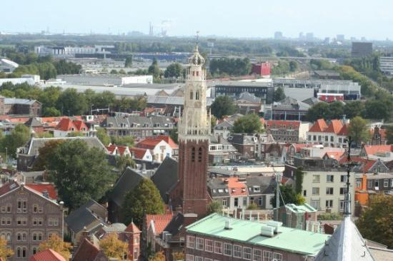 Haarlem, Nederland: From the top of the church you can spot our house.