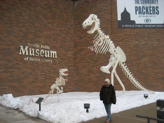 Neville Public Museum: in front of the museum