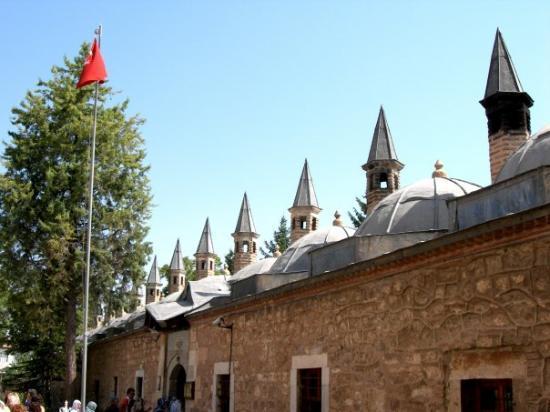 Konya, Turquie : Museu de Mevlana - Vista a partir do exterior