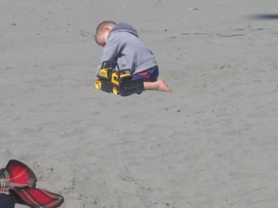 warren on the beach in ocean shores