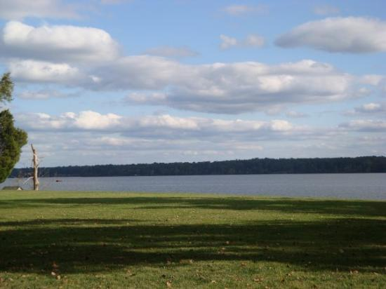 View of the James River from the front of the Westover Plantation house