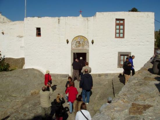 Monastery of St. John : John's Cave on the island of Patmos in the Greek Isles.