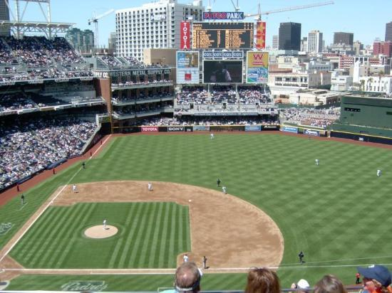 Petco Park: Very cool place in center field for kids to play behind the fence, in between center field secti