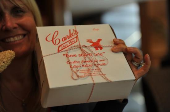 Carlo's bakery in Hoboken on Saturday