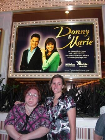 Donny and Marie: Me and my cousin Karianne in front of the Flamingo Showroom waiting to get in and see Donny and