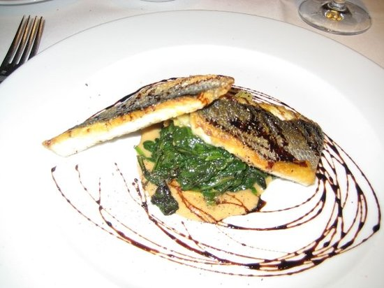 Tosca Restaurant: My beautiful sea bass dinner