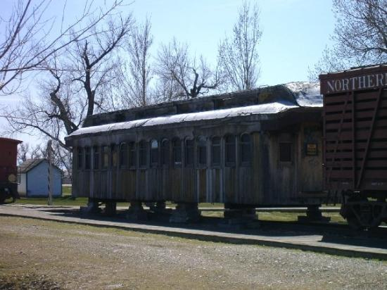 Big Horn County Historical Museum: Another shot of the train car at the museum.