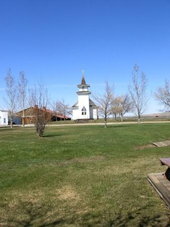 Big Horn County Historical Museum: The church at the museum in Hardin where my Grandpa works.