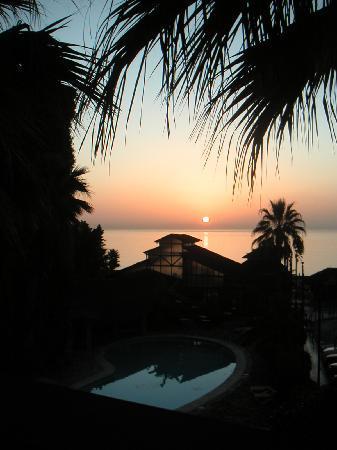 Hotel Tropicana: Coucher de soleil.