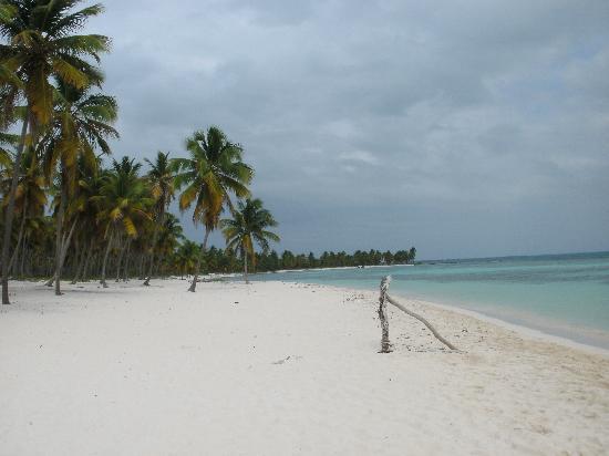 Bayahibe, Republik Dominika: einsamer Strand auf Saona