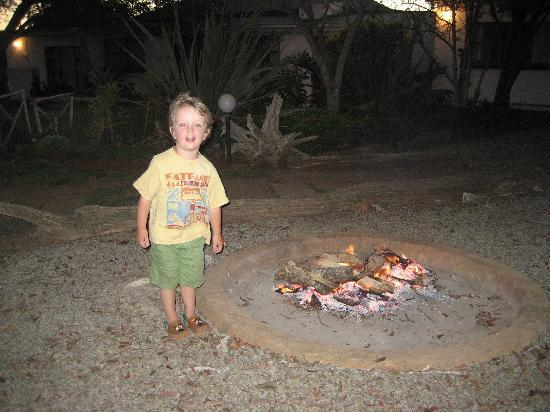 The Green Tree Guest Cottages : Mac and his camp fire, what a great night