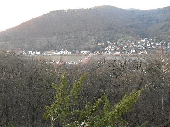 Schlosshotel Molkenkur: View from bedroom window down the valley