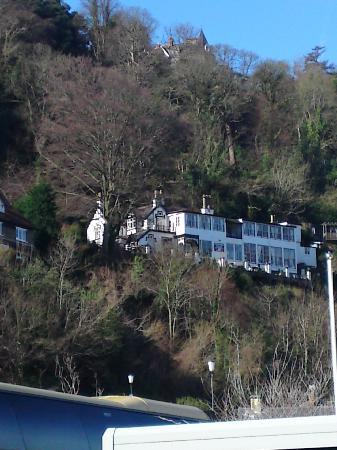 Bay Valley of Rocks Hotel: From Lynmouth car park zoom in