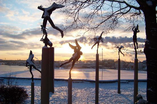 Lidingo, Suède : il giardino intorno a Millesgården