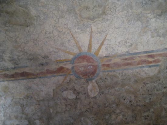 Mission Trail: Original frescoes at Concepcion