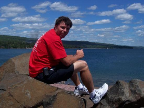 Grand Marais, MN: Me on Lake Superior