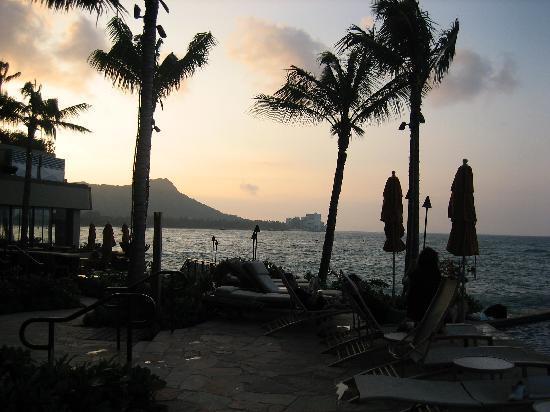 Sheraton Waikiki: 朝です